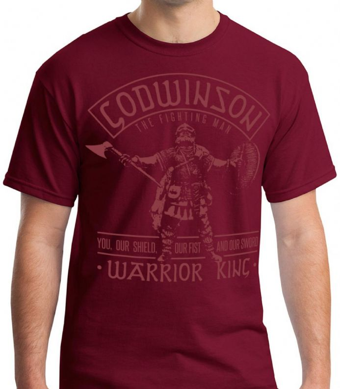 "Godwinson ""Warrior King"" Red T-shirt - Anglo-Saxon T-shirts"